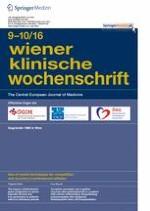 Wiener klinische Wochenschrift 9-10/2016