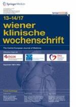 Wiener klinische Wochenschrift 13-14/2017