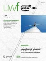 uwf UmweltWirtschaftsForum 4/2009