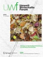 uwf UmweltWirtschaftsForum 4/2014