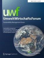 uwf UmweltWirtschaftsForum 1-2/2017