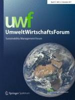 uwf UmweltWirtschaftsForum | Sustainability Management Forum 3-4/2017
