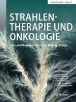 Strahlentherapie und Onkologie 1/2017