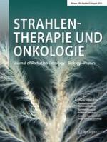 Strahlentherapie und Onkologie 8/2018
