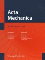 Acta Mechanica 3-4/2009