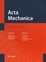 Acta Mechanica 1-2/2011