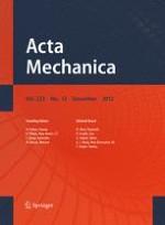 Acta Mechanica 12/2012