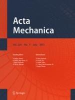 Acta Mechanica 7/2013