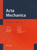 Acta Mechanica 8/2013