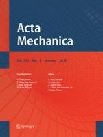 Acta Mechanica 1/2014