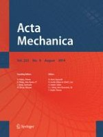 Acta Mechanica 8/2014