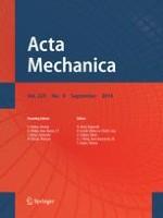 Acta Mechanica 9/2014