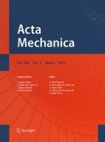 Acta Mechanica 3/2015