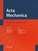 Acta Mechanica 9/2015