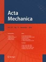 Acta Mechanica 11/2016