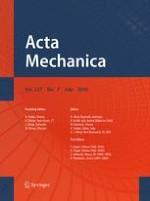 Acta Mechanica 7/2016
