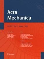 Acta Mechanica 8/2016