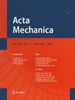 Acta Mechanica 11/2017