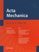 Acta Mechanica 10/2018