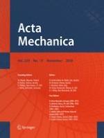 Acta Mechanica 11/2018