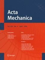 Acta Mechanica 4/2018