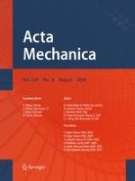Acta Mechanica 8/2018