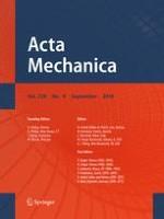 Acta Mechanica 9/2018
