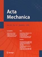 Acta Mechanica 12/2019