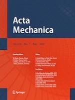 Acta Mechanica 5/2019