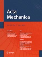 Acta Mechanica 7/2019