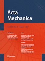 Acta Mechanica 8/2019