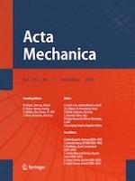 Acta Mechanica 11/2020