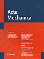 Acta Mechanica 7/2020