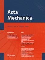 Acta Mechanica 8/2020