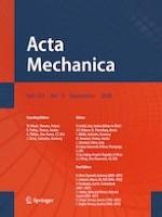 Acta Mechanica 9/2020