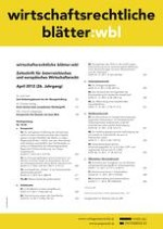 Wirtschaftsrechtliche Blätter 1/2009