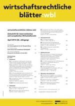 Wirtschaftsrechtliche Blätter 12/2009