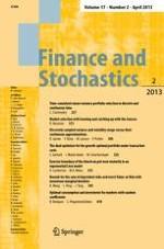 Finance and Stochastics 2/2013