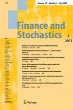 Finance and Stochastics 3/2013