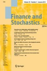 Finance and Stochastics 1/2014
