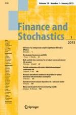 Finance and Stochastics 1/2015