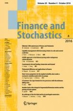Finance and Stochastics 4/2016