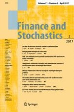 Finance and Stochastics 2/2017