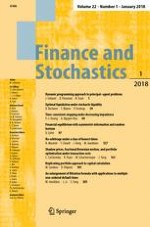 Finance and Stochastics 1/2018