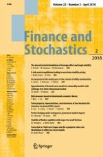 Finance and Stochastics 2/2018