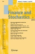 Finance and Stochastics 3/2018
