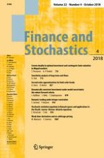 Finance and Stochastics 4/2018