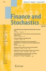 Finance and Stochastics 1/2019