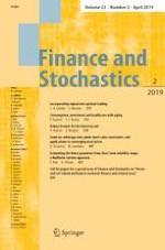 Finance and Stochastics 2/2019