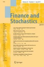 Finance and Stochastics 3/2019